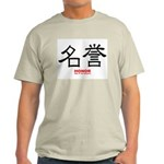 Samurai Honor Kanji (Front) Ash Grey T-Shirt