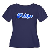 Retro Felipe (Blue) Women's Plus Size Scoop Neck D