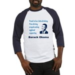 Latte-Sipping Eggheads for Obama Baseball Jersey