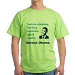 Latte-Sipping Eggheads for Obama Green T-Shirt