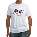 Samurai Brave Kanji (Front) Fitted T-Shirt