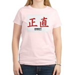 Samurai Honesty Kanji (Front) Women's Pink T-Shirt