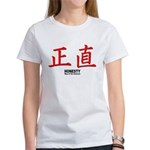 Samurai Honesty Kanji (Front) Women's T-Shirt