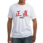 Samurai Honesty Kanji Fitted T-Shirt
