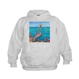 Pelican on the pier Hoodie