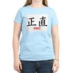 Samurai Honesty Kanji (Front) Women's Pink T-Shirt