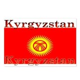 Kyrgyzstan Kyrgyz Flag Postcards (Package of 8)