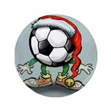 "Cute Soccer player 3.5"" Button"