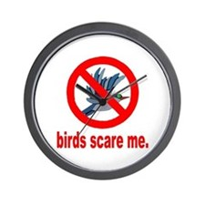 Birds Scare Me Wall Clock