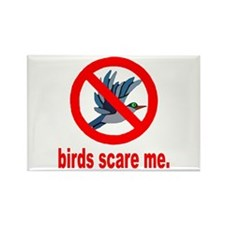 Birds Scare Me Rectangle Magnet (10 pack)