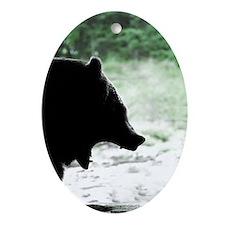 Bear Head Silhouette Keepsake (Oval)