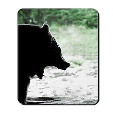 Bear Head Silhouette Mousepad