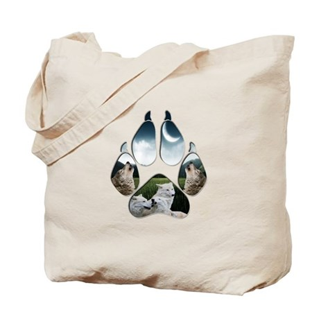 Wolf Print Tote Bag