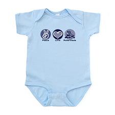 Peace Love Rollerblade Infant Bodysuit