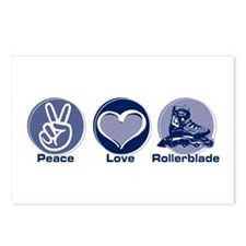 Peace Love Rollerblade Postcards (Package of 8)