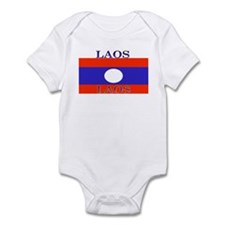 Laos Lao Flag Infant Creeper
