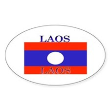 Laos Lao Flag Oval Decal