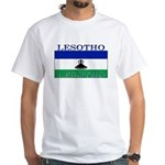 Lesotho Flag White T-Shirt