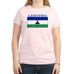 Lesotho Flag Women's Pink T-Shirt