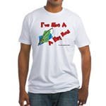 I've Got A Big Rod Fishing Fitted T-Shirt