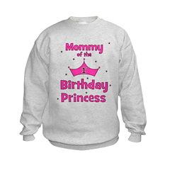 Mommy of the 1st Birthday Pri Kids Sweatshirt