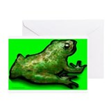 Unique Frog print Greeting Cards (Pk of 10)