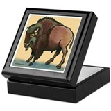 Cute Buffalo Keepsake Box
