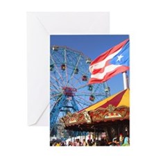 Wonder Wheel Puerto Rico Greeting Card