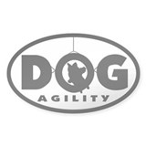 Tire Jump Dog Agility Oval Decal
