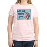 Don't Be A Dragon Lady Women's Pink T-Shirt