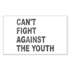 Can't Fight Against the Youth Rectangle Sticker