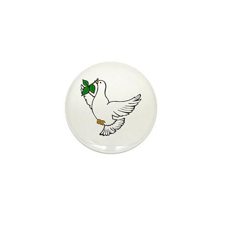 Peace Dove Mini Button (10 pack)