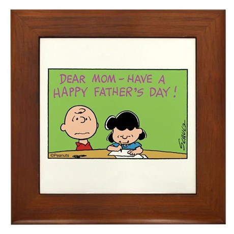 Dear Mom, Happy Father's Day! Framed Tile