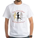 DANCIN' WHITE TEE (UPTO 4X)