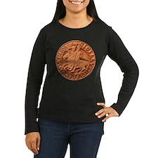 Wax Templar Seal Women's Long Sleeve Dark T-Shirt