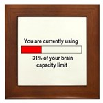 BRAIN CAPACITY LIMIT Framed Tile