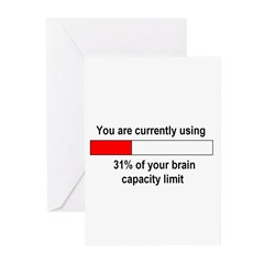 BRAIN CAPACITY LIMIT Greeting Cards (Pk of 10)