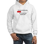 BRAIN CAPACITY LIMIT Hooded Sweatshirt