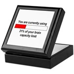 BRAIN CAPACITY LIMIT Keepsake Box