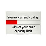 BRAIN CAPACITY LIMIT Rectangle Magnet (100 pack)