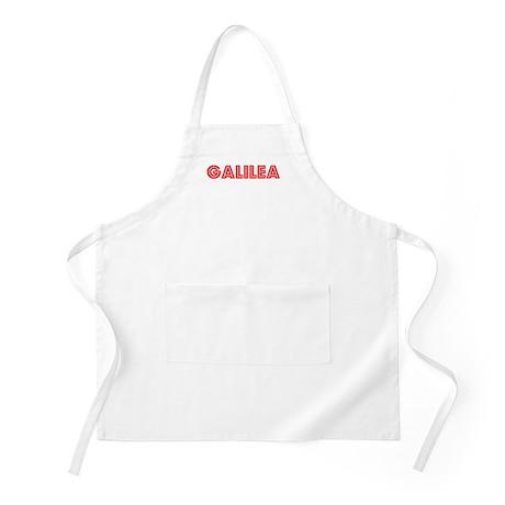 Retro Galilea (Red) BBQ Apron