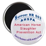 AHSPASave America's Horses 2.25&quot; Magnet (100 pack)