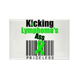 Kicking Lymphoma's Ass Rectangle Magnet