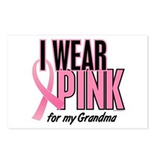 I Wear Pink For My Grandma 10 Postcards (Package o