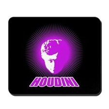 Houdini Face Mouse Pad, Purple on Black