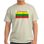 Lithuania Lithuanian Flag Ash Grey T-Shirt