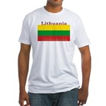 Lithuania Lithuanian Flag Fitted T-Shirt