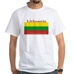 Lithuania Lithuanian Flag White T-Shirt