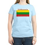 Lithuania Lithuanian Flag Women's Pink T-Shirt