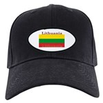 Lithuania Lithuanian Flag Black Cap